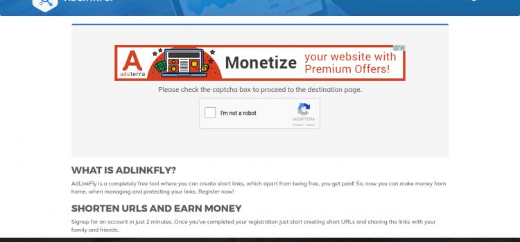 AdLinkFly – Gana dinero acortando URLs