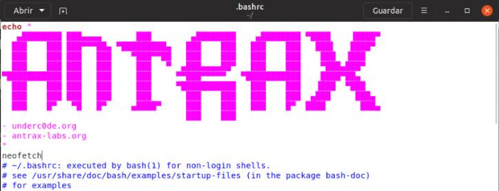 Personalizando la consola de Linux 7