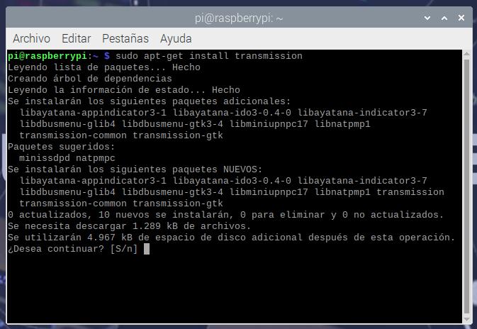 Creando un servidor de torrent con Raspberry Pi 7