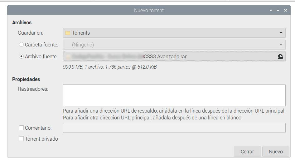 Creando un servidor de torrent con Raspberry Pi 9
