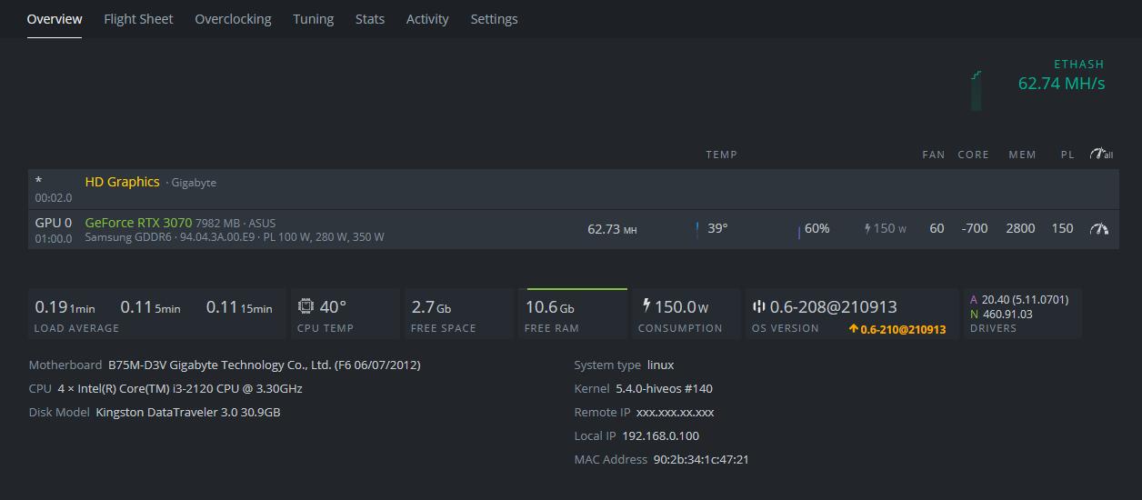 Como armar un rig usando HiveOS (Instalación y configuración) 63