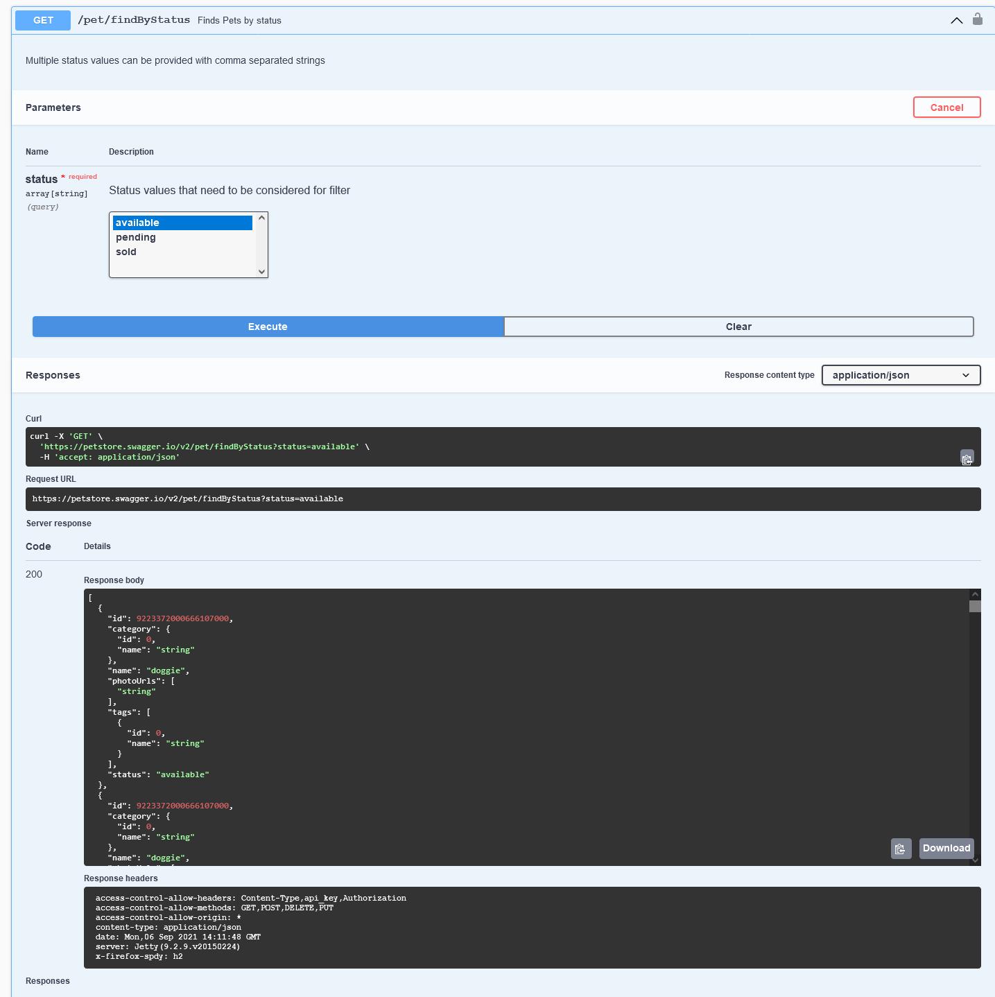 Testeo de APIs con Swagger 9
