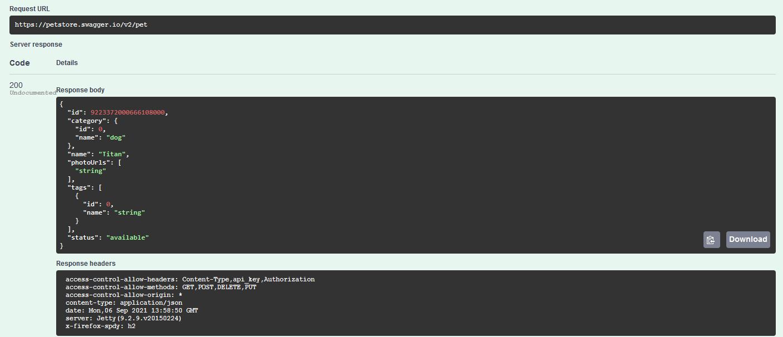 Testeo de APIs con Swagger 7